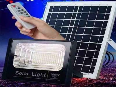 Refletor LED Solar 200W com bateria e painel solar