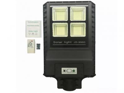 Luminária Publica Solar 120W integrada com bateria e painel solar
