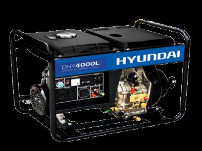 Gerador de Energia a Diesel Hyundai  DHY4000L - 4 kva
