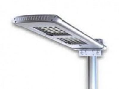Luminária Solar integrada dupla para poste 3 a 4 m