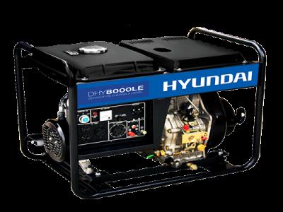 Gerador de Energia a Diesel HYUNDAI  DHY8000LE-3 - TRIFASICO 7 KVA