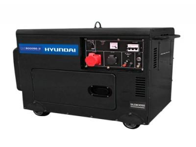 Gerador de Energia a Diesel HYUNDAI DHY8000SE-3 - TRIFASICO - 7 kva