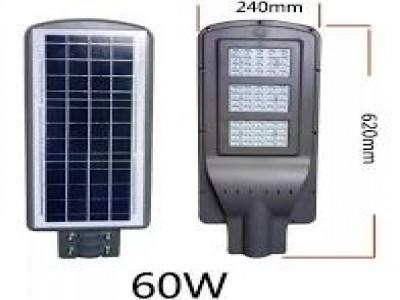 Luminária Solar Pública 60W - completa